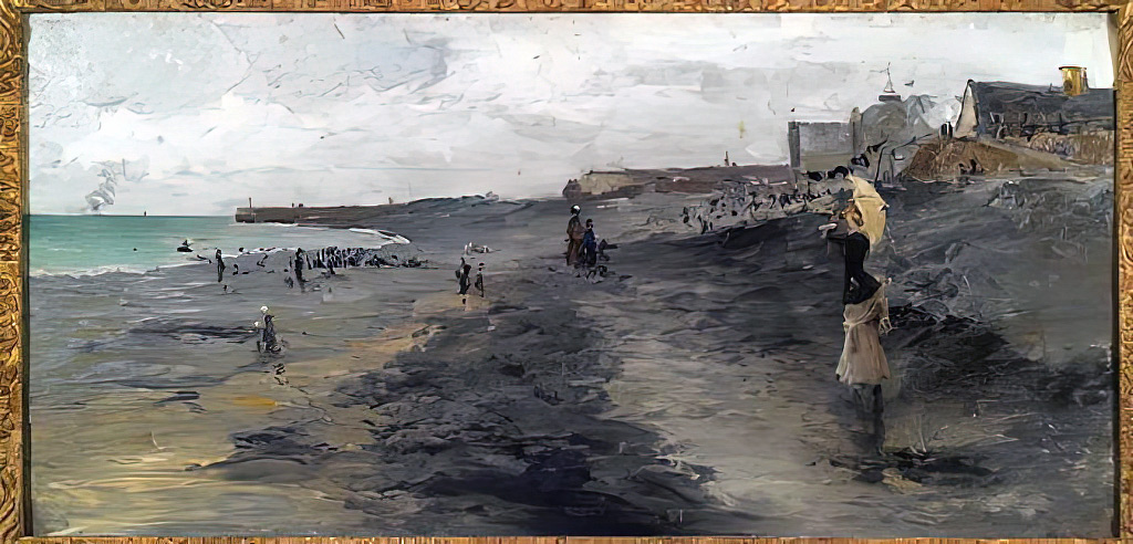 1881 - Frank Myers Boggs - Beach by Dieppe