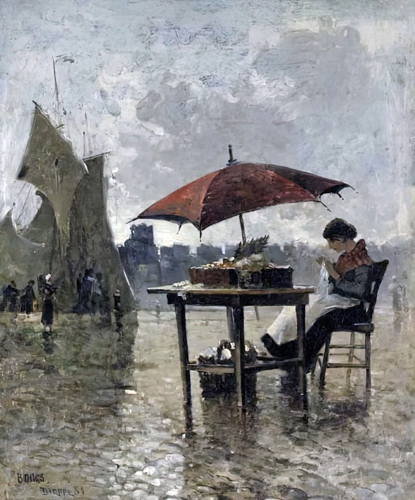 ????- Frank Myers Boggs - On the Quai, Dieppe