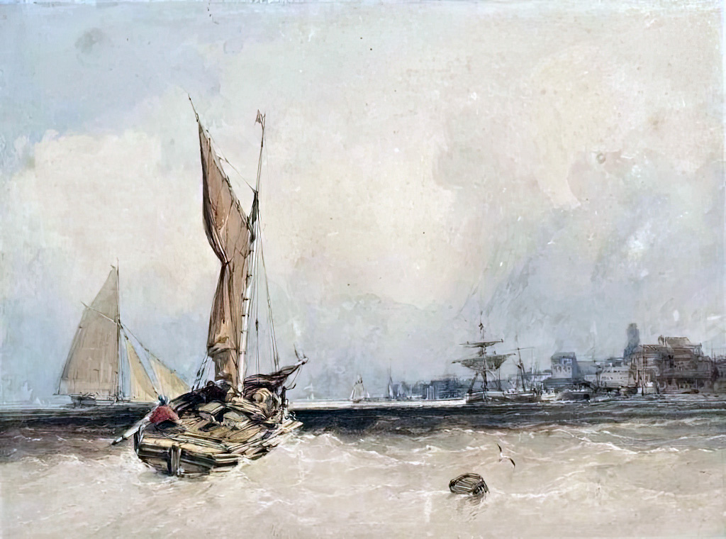 ???? - William Callow - Fishing boats off Dieppe