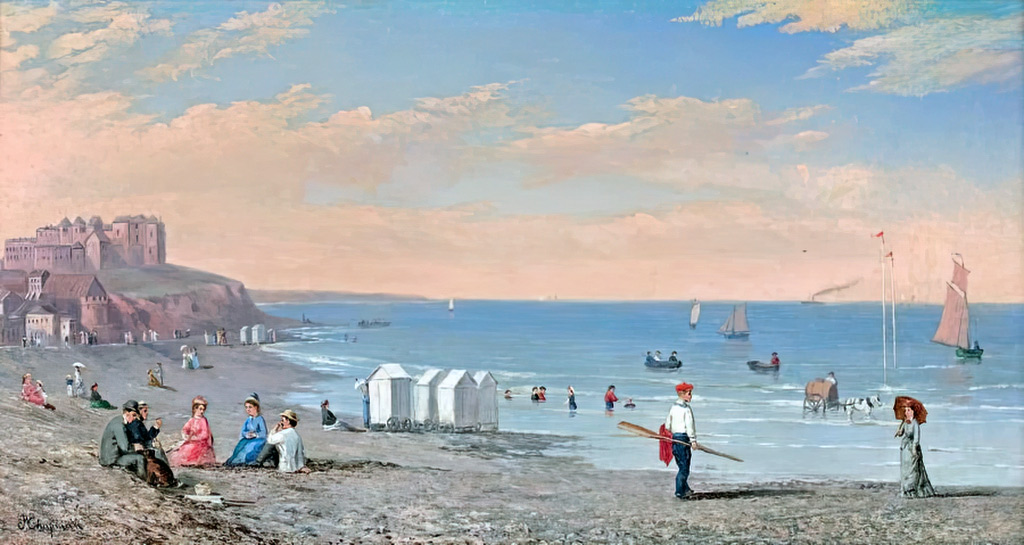 ???? - Conrad Wise Chapman - Sailboat at the beach of Dieppe