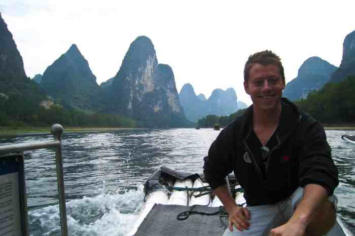 Jeremy Foster on the Li River