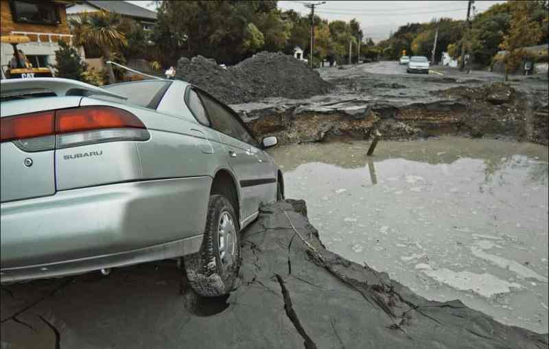 Aranui - Road Damage. Feb 23, 2011.
