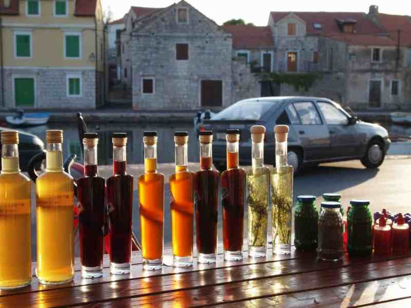 Local Croatian spirits