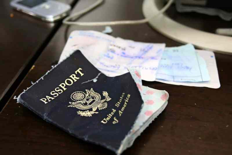 Washed Passport