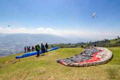 Paragliding Takeoff