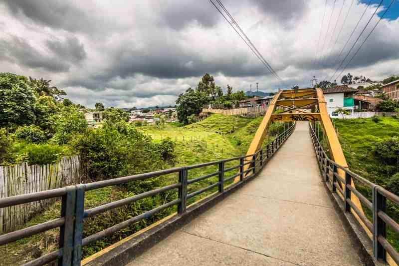 Yellow Bridge, Salento, Colombia