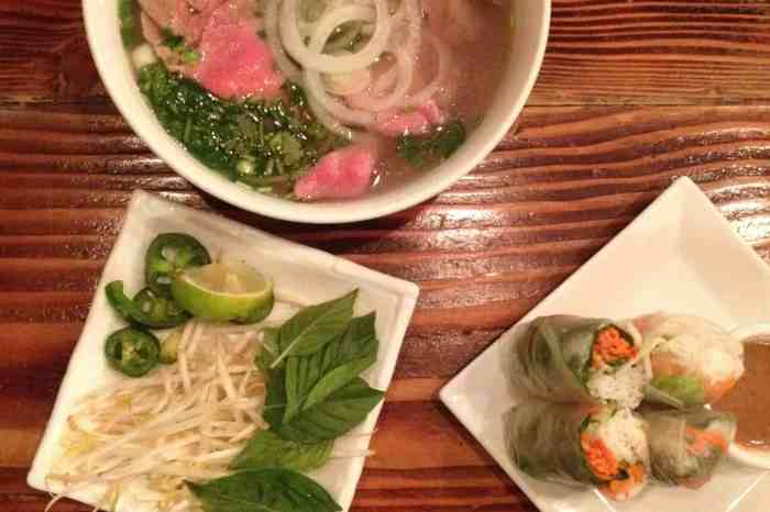 Pho and Spring Rolls at Saigon Shack