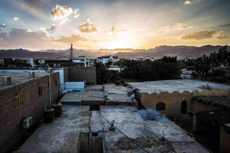 Sunset in Dahab, Egypt.