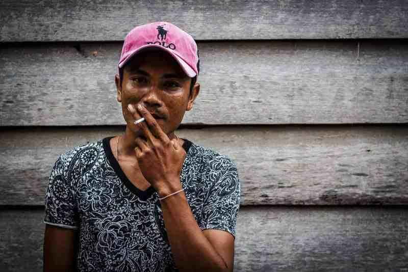 Portraits of Cambodian people.