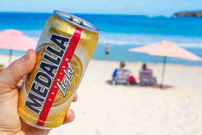 Medalla Light, the Puerto Rican drink of choice.
