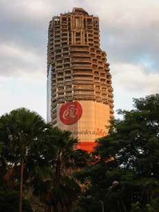 "The 49-story ""Ghost Tower"" of Bangkok."