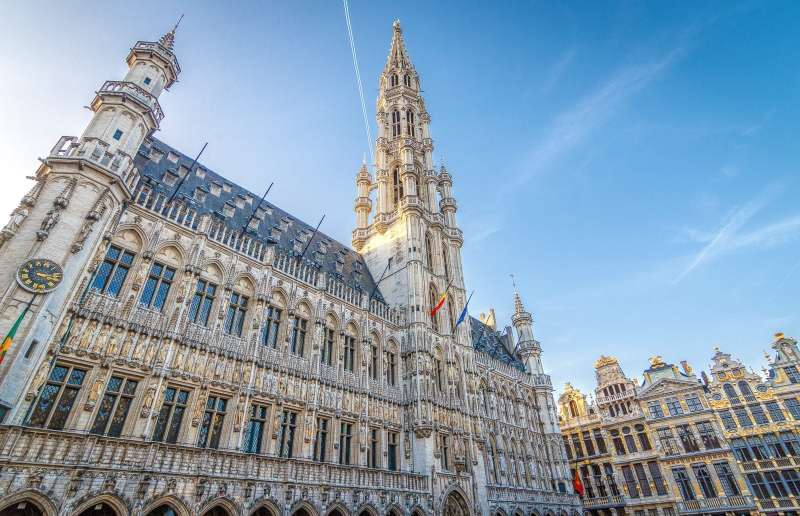 The town hall at Grand Place in Brussels, Belgium