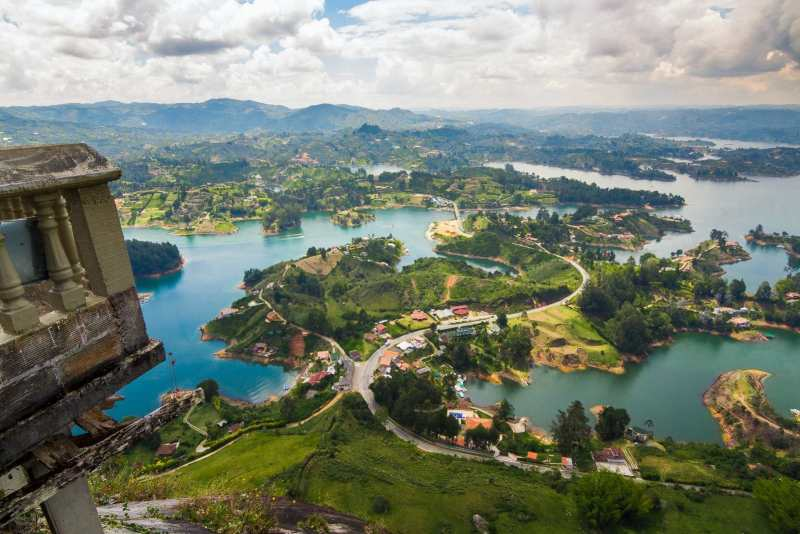 Looking out over Guatape, Colombia