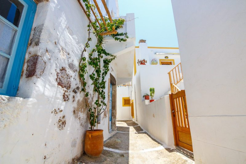 Exploring the old towns of Milos, Greece