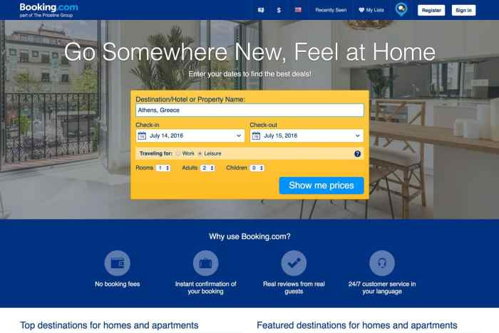 Booking.com is now a website like Airbnb, too!