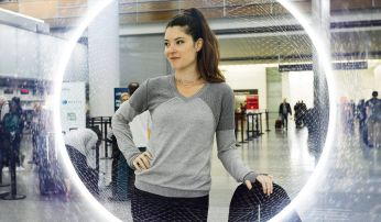 Silver Shield Sweater from Betabrand