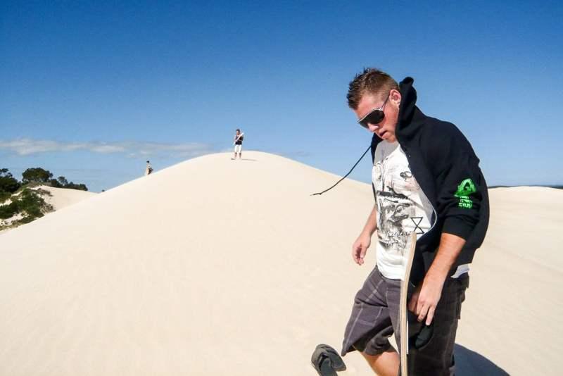 Sandboarding on Kangaroo Island in Australia
