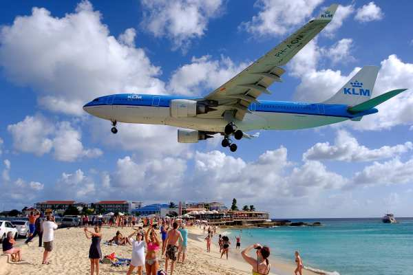 Planes landing on Maho Beach is an adventure in itself!