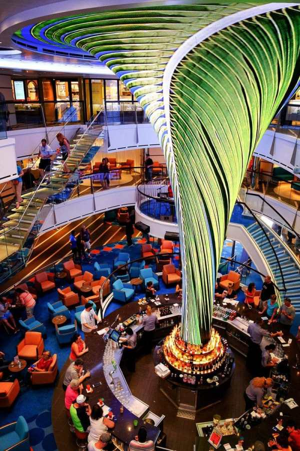 The main lobby of the Carnival Vista