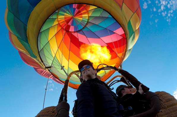 Hot air ballooning over Asheville, NC