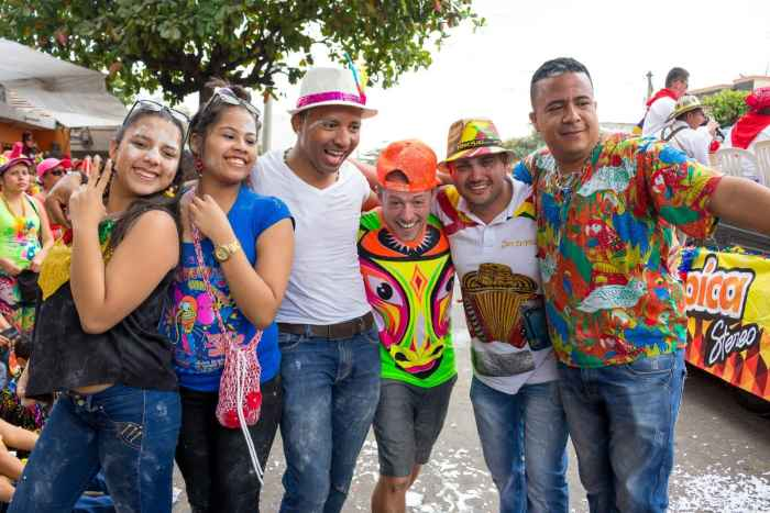 Speaking foreign languages at Carnival de Barranquilla