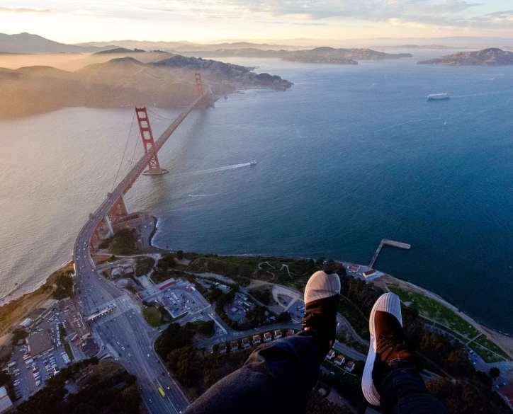 "Hanging out of a helicopter above the Golden Gate Bridge before my big Hey! Can you optimize the following post for ""pacific coast highway road trip"