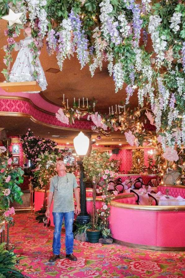 Inside The Madonna Inn on the Pacific Coast Highway.