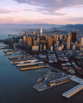 "Aerial views of downtown San Francisco before heading out on my Hey! Can you optimize the following post for ""pacific coast highway road trip"