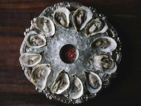 Oysters at one of the best restaurants in Asheville