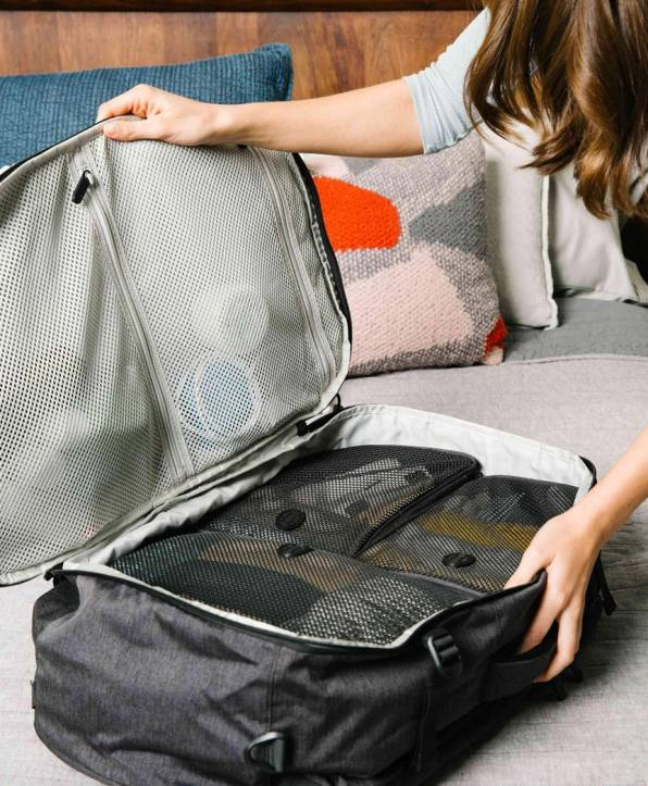 Packing cubes in the Setout backpack