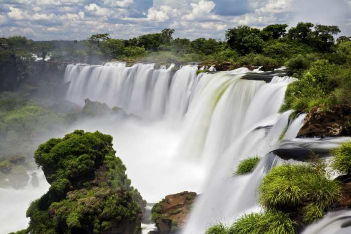 Incredible Iguazu Falls view.