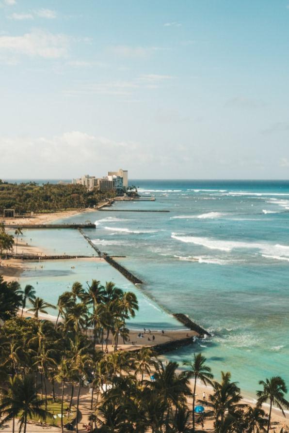 Waikiki beach view