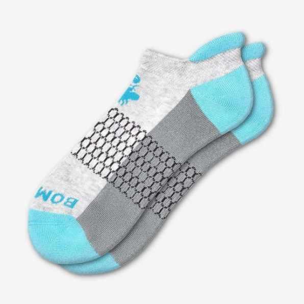 Blue ankle Bombas socks for women