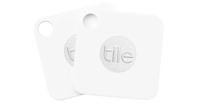 two white Tile Tracker devices