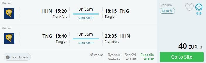 flights to morocco from frankfurt