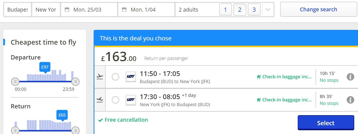 budapest new york error