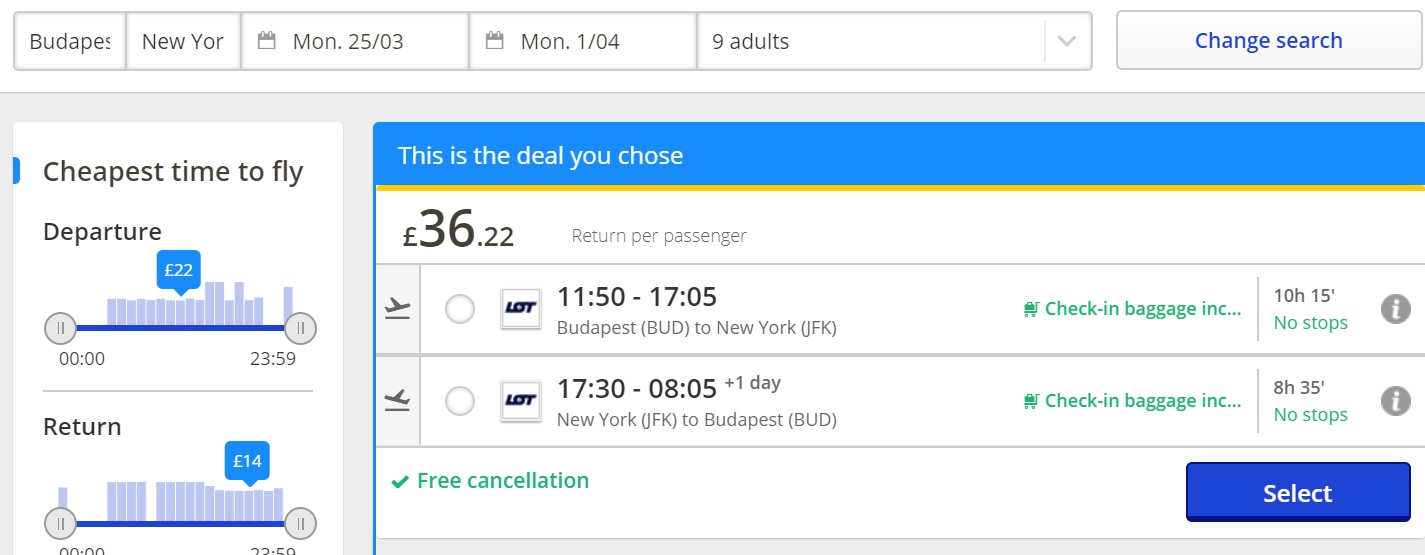 error budapest new york