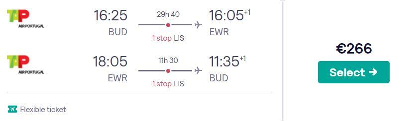 cheap flights budapest new york