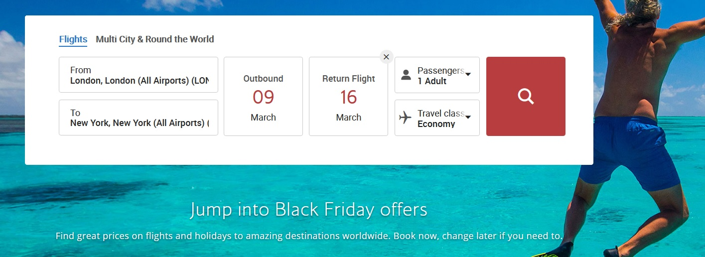 british airways black friday sale 2020