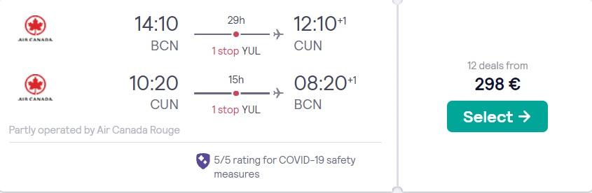 cheap flights barcelona cancun