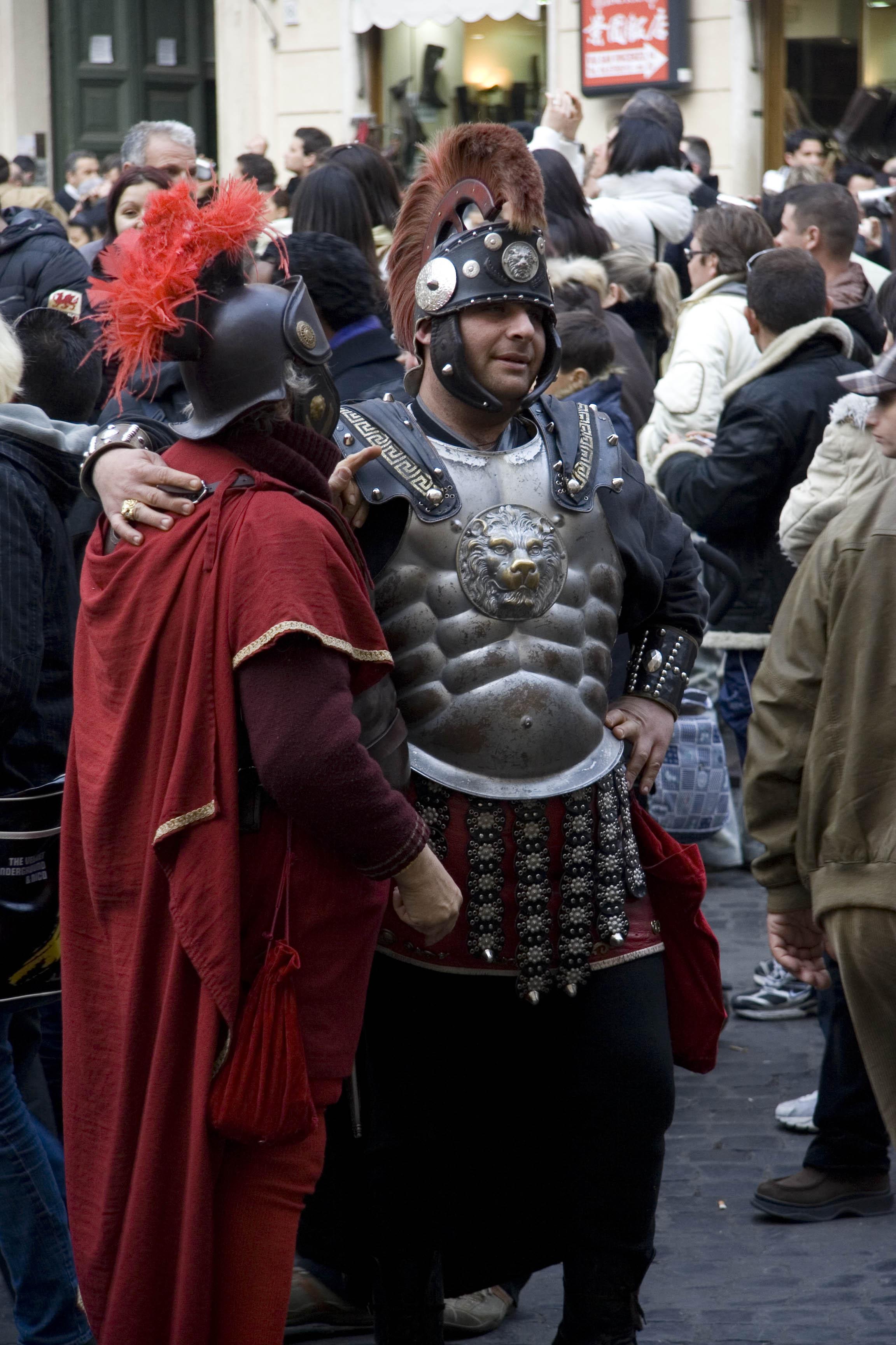 Modern gladiators in Rome