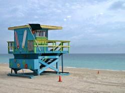 Lifeguard Tower in Miami, Florida
