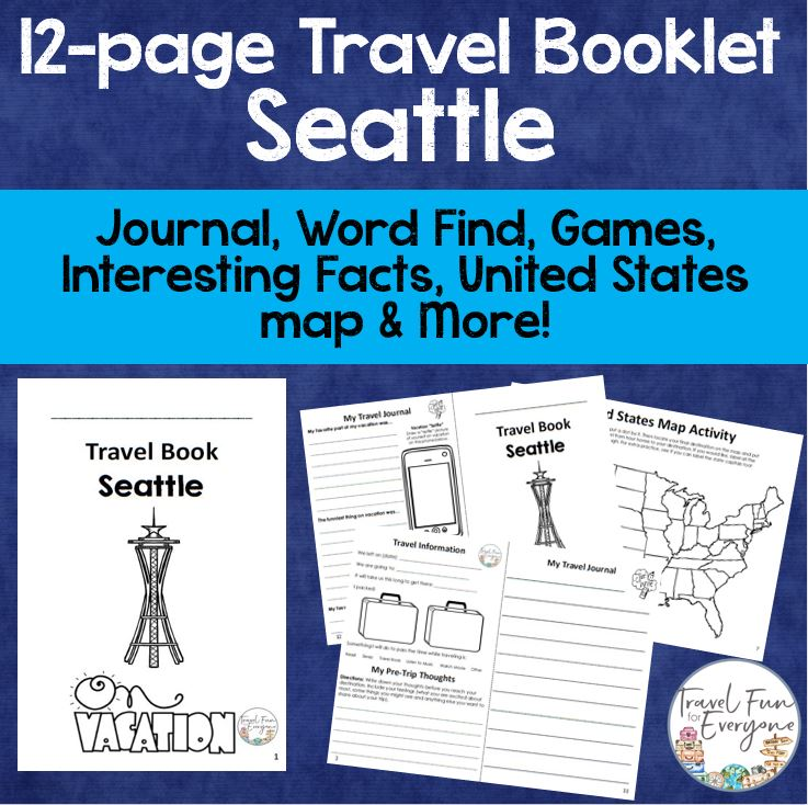 seattle travel booklet travel fun for everyone
