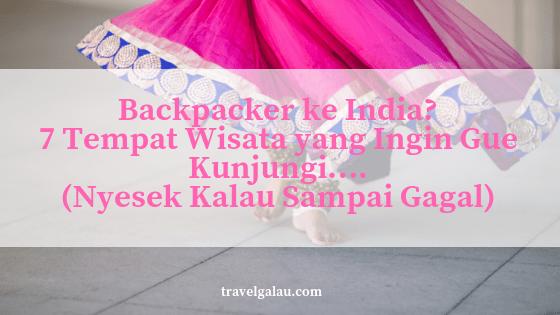 backpacker ke india