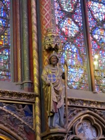One of the twelve apostles statues.
