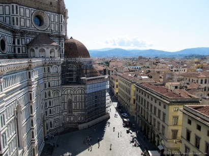 The Duomo, the City, the surrounding hills