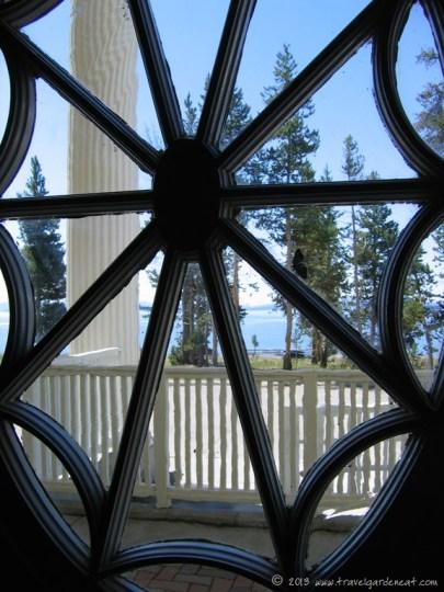Cut-out pattern at the Lake Yellowstone Hotel