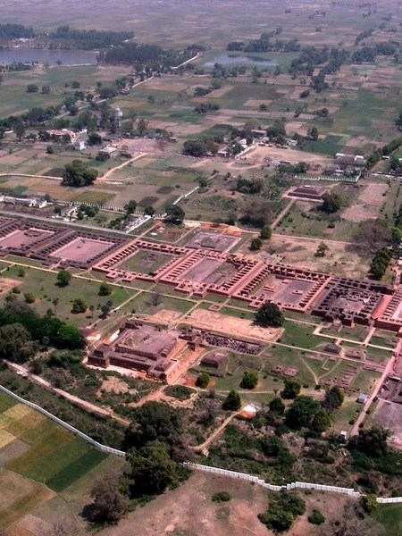 Aerial view Nalanda University