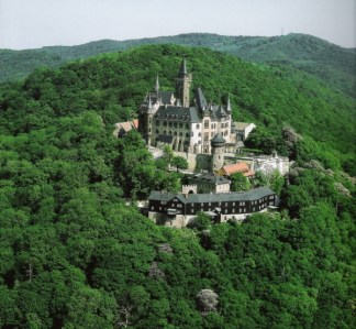 Wernigerode Castle in Harz Mountains