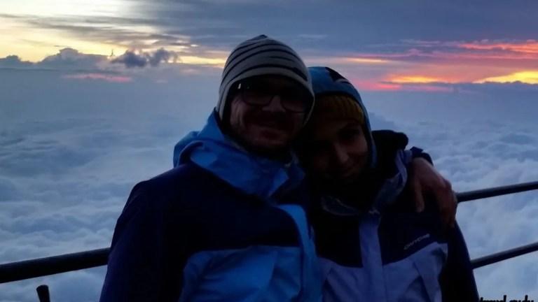 scalare il monte Fuji Giappone